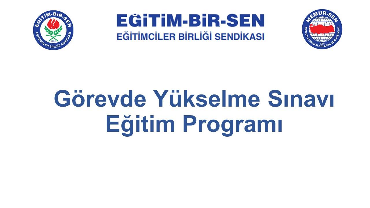 Görevde Yükselme Sınavı Eğitim Programı